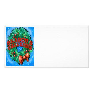 Seasons Greetings Photo Card Template