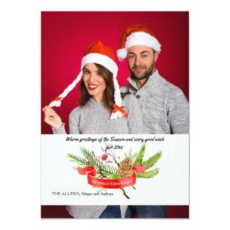 Season's Greetings Pine Photo Holiday Card