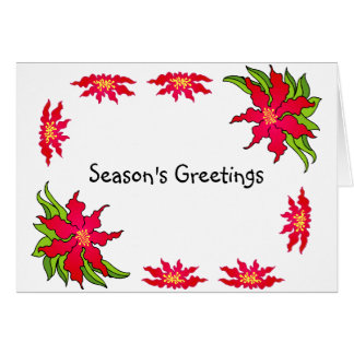 Season's Greetings Postage Stamp Greeting Card