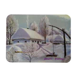 Season's Greetings Rectangular Photo Magnet