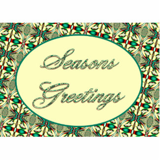 seasons greetings red green acrylic cut outs