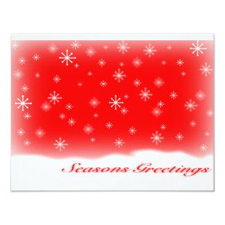 seasons greetings RED.svg 11 Cm X 14 Cm Invitation Card