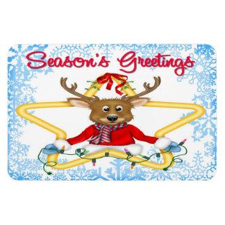 Season's Greetings Reindeer Flex Magnets