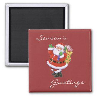 Season's Greetings Santa Magnet