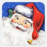 Seasons Greetings Santa Square Sticker