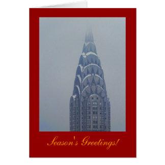 Seasons Greetings: Snowcapped Chrysler Building A1 Card