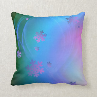 Season's Greetings Snowflake and Holiday Swirl Throw Pillow