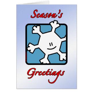 Season's Greetings Snowflake Card