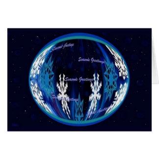 Seasons Greetings Snowflake Globe Greeting Card