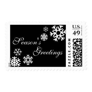 Season's Greetings Snowflake Stamp (Black)
