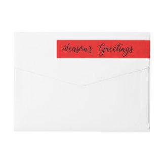 Season's Greetings Snowflake wraparound label