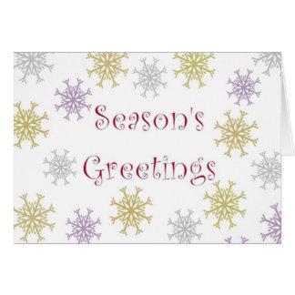 Season's Greetings - Snowflakes Greeting Card