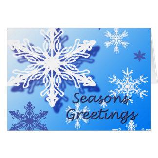 Seasons Greetings Snowflakes Greeting Card 2