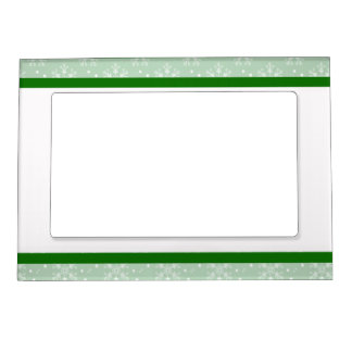 Season's Greetings Snowflakes Magnetic Picture Frames
