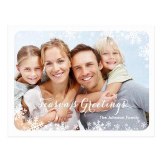 Seasons Greetings - Snowflakes PostCard