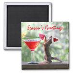 Season's Greetings Squirrel Refrigerator Magnet