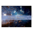Season's Greetings Starry Night – Hubble Telescope Card