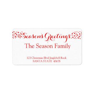 Season's Greetings  stars holiday label