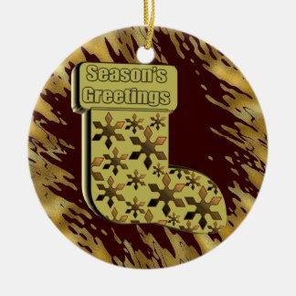 Season's Greetings Stocking Christmas Ornament
