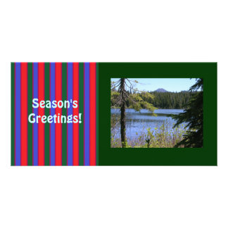 Season's Greetings Template Photocard Custom Photo Card