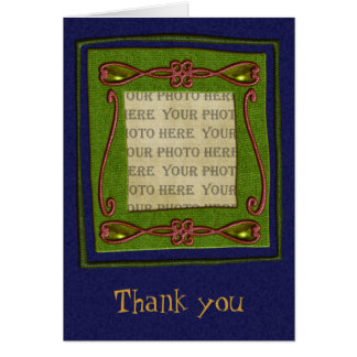 Season's Greetings Thank You Note Note Card