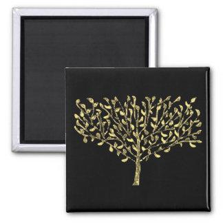 Seasons Greetings Tree Square Magnet