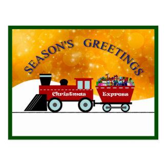 Season's Greetings v.5d: Christmas Express (train) Postcard