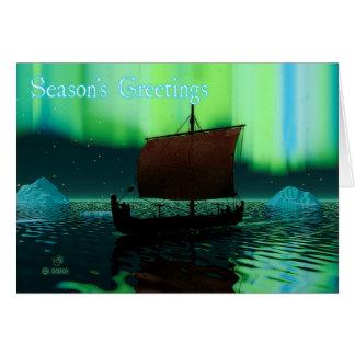 Season's Greetings - Viking Ship Card
