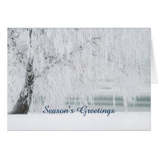 Season's Greetings Winter Wonderland Holiday Card