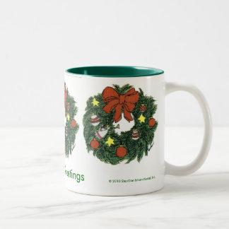 Seasons Greetings Wreath Coffee Mug