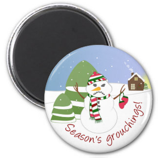 Season's Grouchings Christmas Magnet