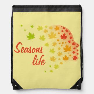 Seasons Life Drawstring Bag