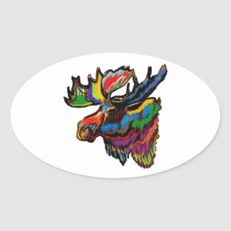 SEASONS OF COLORS OVAL STICKER