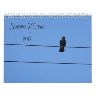 Seasons Of Crows Wall Calendar