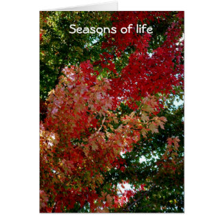 Seasons of life card
