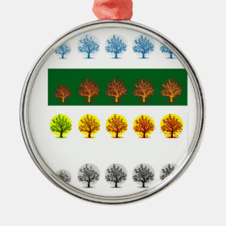 seasons Silver-Colored round decoration
