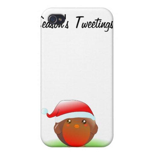 Season's tweetings Christmas Robin iPhone 4/4S Case