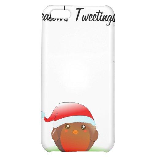 Season's tweetings Christmas Robin iPhone 5C Cover