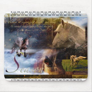 Seasons with an Equine Twist Mouse Pad