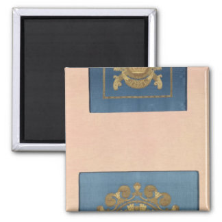 Seat backs by Grand-Freres of Lyons, 1811 Square Magnet