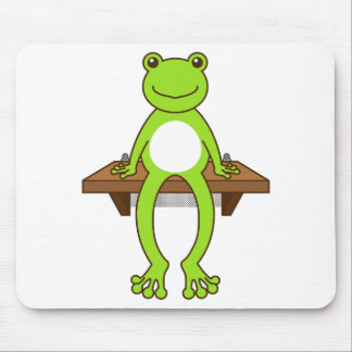 < Seat frog >Sitting frog Mouse Pad