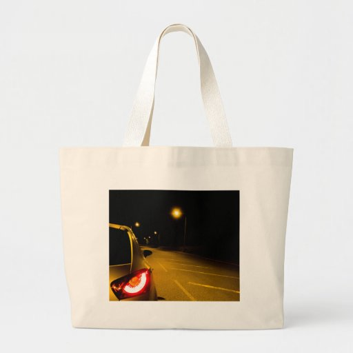 Seat Ibiza on the lonely road Canvas Bag