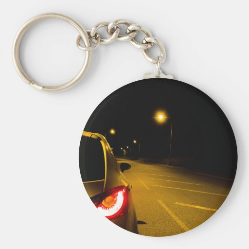 Seat Ibiza on the lonely road Key Chain