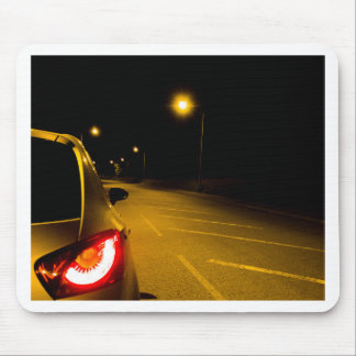 Seat Ibiza on the lonely road Mouse Pad