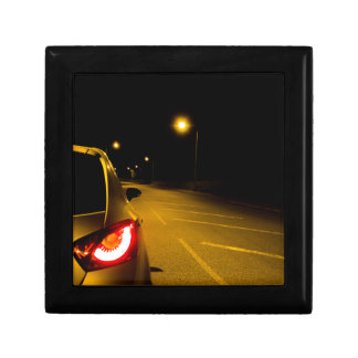 Seat Ibiza on the lonely road Small Square Gift Box