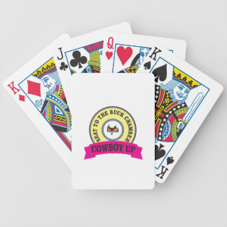 seat to the buck chamber bicycle playing cards