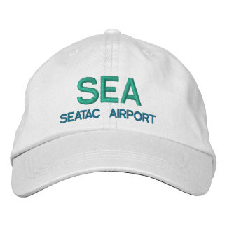 SEATAC SEA Airport Hat Embroidered Baseball Caps