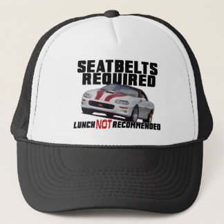 Seatbelts Required for Anniversary camaro Trucker Hat