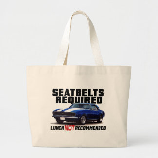 Seatbelts Required for camaro Large Tote Bag
