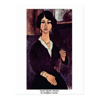 Seated Algerian Almaiisa By Modigliani Amedeo Postcard